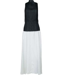 Yang Li   Pelated Front Long Dress