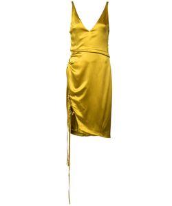 GALVAN | Lace Up Slit Dress 36 Silk/Spandex/Elastane
