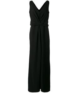 Armani Collezioni | V-Neck Gown 46 Polyester/Spandex/Elastane