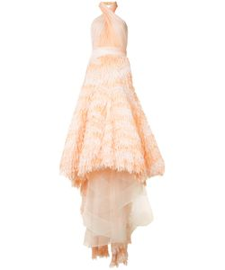 Marchesa | Frill Detail Maxi Dress