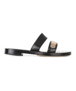 Lanvin | Chain Detail Strap Sandals 41 Leather
