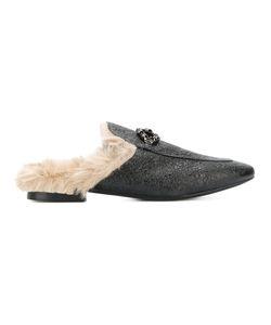 EMANUELA CARUSO   Embellished Fur Mules