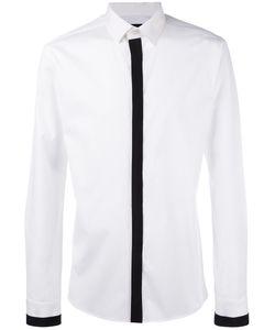 Les Hommes | Grossgrain Trim Shirt Size 48
