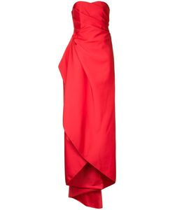 Paule Ka   Long Strapless Woven Dress
