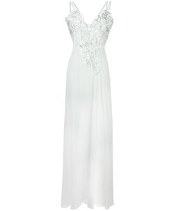 Versace Collection | Lace Panel Gown 42 Polyester