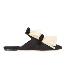 SANAYI 313 | Fringed Slippers 38 Cotton/Leather
