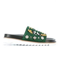 Toga Pulla | Embellished Slider Sandals Size 38