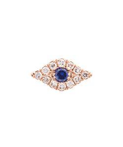 EF COLLECTION | Mini Diamond Evil Eye Stud Earrings