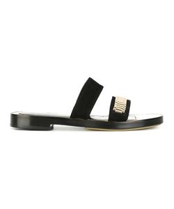 Lanvin | Hardware Strap Sandals 40 Suede/Leather/Metal Other