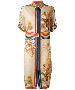 Alberta Ferretti | Printed Silk Shirt Dress 48 Silk