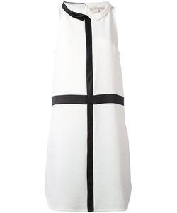 Cotélac | Платье Шифт С Контрастной Окантовкой