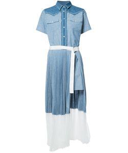 Sacai | Платье-Рубашка С Короткими Рукавами