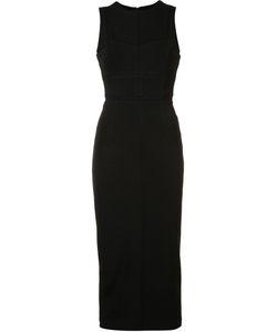 Cinq A Sept | Panelled Midi Dress 8 Viscose/Nylon/Spandex/Elastane