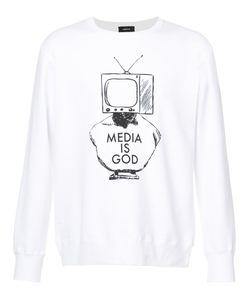 Undercover | Media Is God Printed Sweatshirt Men