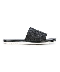 Casadei   Woven Slider Sandals 44