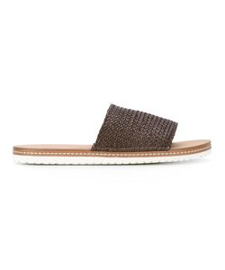 Casadei   Woven Slider Sandals 39