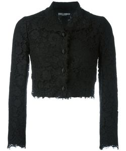 Dolce & Gabbana | Cropped Lace Jacket 46 Cotton/Viscose/Polyamide/Silk