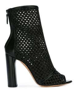 Casadei | Peep Toe Ankle Boots