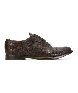 Officine Creative | Woven Effect Oxfords 44 Leather