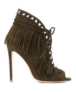 GIANNI RENZI | Fringed Open Toe Booties