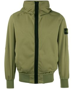 Stone Island | Zipped Hooded Jacket Large Polyester/Polyurethane Resin