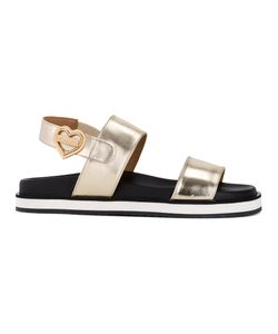 Love Moschino   Flat Sandals 41 Polyester/Polyurethane