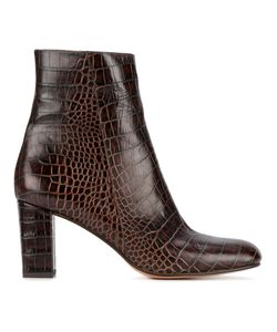 Maryam Nassir Zadeh | Alligator-Embossed Agnes Boots 38.5 Leather