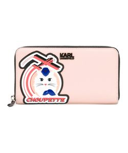 Karl Lagerfeld | Choupette Patch Zipped Wallet