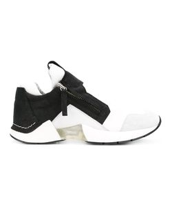 Cinzia Araia | Side Zip Sneakers Adult Unisex 43 Canvas/Leather/Rubber