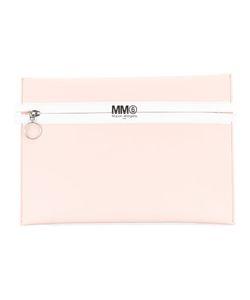 MM6 by Maison Margiela | Mm6 Maison Margiela Logo Print Zip Clutch