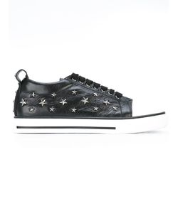 Red Valentino | Studded Stars Trainers 38 Leather/Cotton/Rubber
