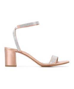 Pedro García | Pedro Garcia Ankle Length Sandals 37 Leather/Satin/Glass