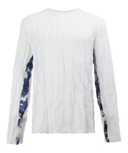 Yang Li | Arm Detail Semi-Sheer T-Shirt Size 50 Cotton/