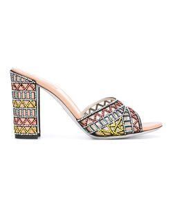 Rene' Caovilla | René Caovilla Embroidered Sandals 39
