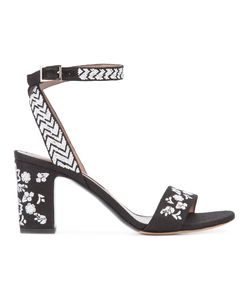Tabitha Simmons | Patterned Sandals 39 Leather/Canvas