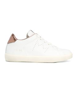 Leather Crown | Lace-Up Sneakers 38 Cotton/Leather/Rubber