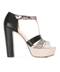 Michael Michael Kors | Snakeskin Detail Sandals 7.5 Leather/Rubber