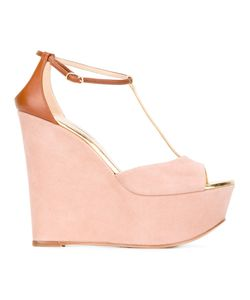 Casadei | Wedged Sandals 38 Leather/Suede