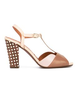 Chie Mihara   Checked Heel Sandals Size 38