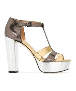 Michael Michael Kors | Platform Buckled Sandals 5 Leather/Rubber