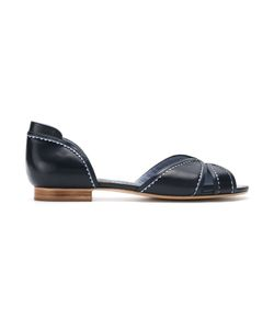 Sarah Chofakian | Leather Flat Sandals Size 34