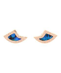 DEZSO   18k Opal Diamond Shark Fin Earrings