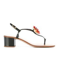 Giuseppe Zanotti Design | Flower Embellished Sandals Size 38 Leather/Patent