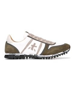 PREMIATA WHITE | Simon Sneakers 42 Cotton/Suede/Leather/Rubber