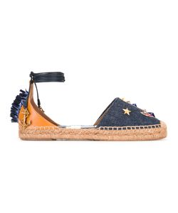 Dolce & Gabbana | Denim Anchor Espadrilles 40 Cotton/Calf