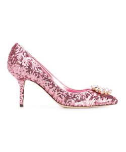 Dolce & Gabbana | Bellucci Pumps 37 Leather/Polyester