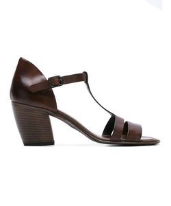 Pantanetti | T-Strap Sandals 37.5 Calf Leather/Leather