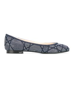 Christian Dior | Embellished Ballerinas 36 Cotton/Leather/Metal Other