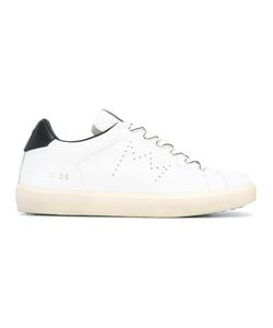 Leather Crown | Perforated Logo Sneakers 40 Leather/Rubber