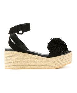 Muveil | Pom Pom Platform Sandals Size 38